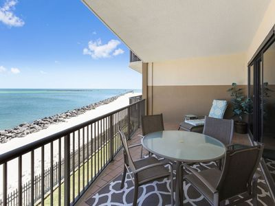 Photo for Beautiful 2nd Floor Condo located on the Beach with Spectacular Views of The Pass!