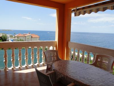 Photo for Holiday apartment with sea view 50 m from the beach