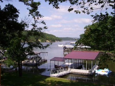 Photo for Modern Lake Home - Large Private Dock - Quiet Cove!
