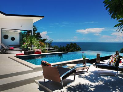 Photo for New modern villa, infinity pool and amazing sea view, complete privacy