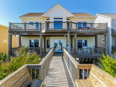 Photo for BEACH PLACE TOO: 4 BR / 3.5 BA oceanfront in Topsail Beach, Sleeps 8, Elevator