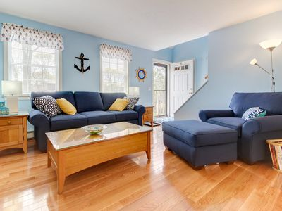 Photo for Charming cottage with deck and playroom one mile from beach
