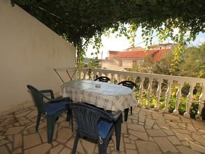 Photo for Two bedroom apartment with terrace Rukavac, Vis (A-1153-d)