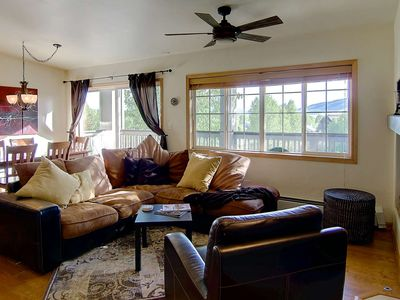 Photo for Just Listed Sale! Great Views, Walk to Mtn, Spacious Top Floor Condo, Decks, Grill, Garage, Free Bus