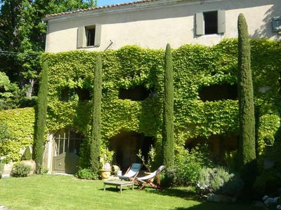Photo for 18th century village house with swimming pool a few kilometers from Uzès