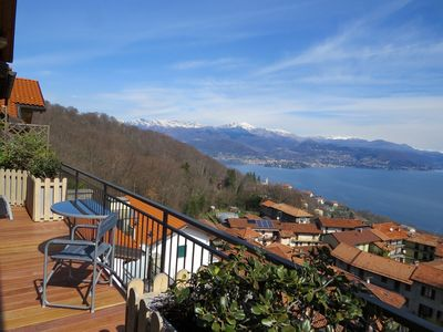 Photo for Penthouse San Rocco luxury apartment with wonderful lake view over Stresa