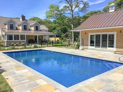 Photo for Private Orleans resort-style compound: heated pool/spa, fire pit & cabana 023-O