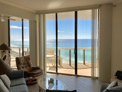 Amazing view from the comfort of the large balcony or the living room