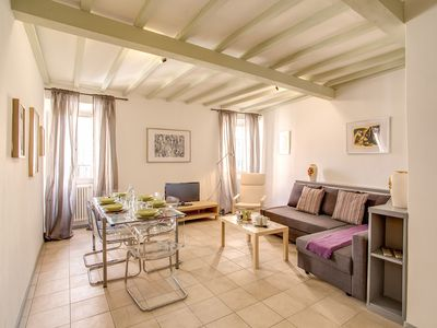 Photo for Bright 3bedroom apartment at only 2 min walking from Campo di fiori main piazza.