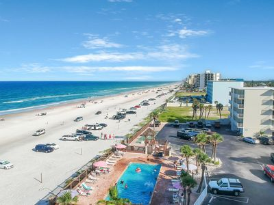 Photo for Two connected condos with shared pool, ocean views and just steps to the beach!