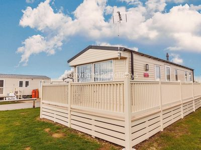 Photo for 8 berth caravan holiday home for hire with decking at St Osyth's Park ref 28008