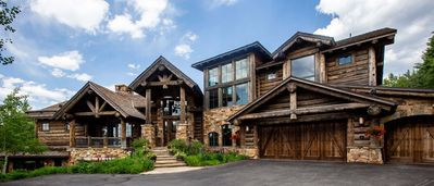 Photo for Bachelor Gulch Ski in-out, Magnificent Custom Log Home, 6 Bedroom, Sleeps 12