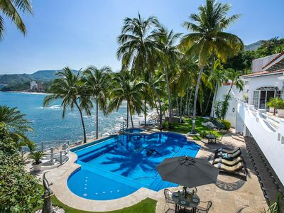 Photo for Luxury Beach Front Villa w/ Private Pool & Sand Beach, Full Staff! FREE NIGHT!