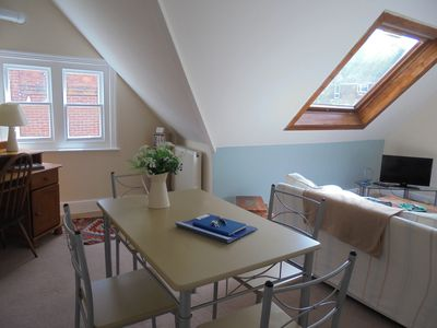 Photo for Bright and spacious apartment located 5 minutes walk to seafront