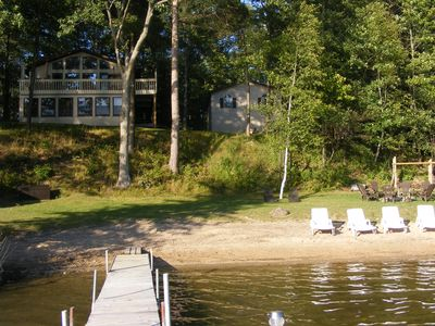 Peaceful Family Lake House on All Sports Sunrise Lake, Near Cadillac MI (LeRoy)
