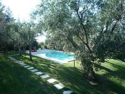 Photo for 14 km sea Camaiore top hill- private pool BBQ wood oven