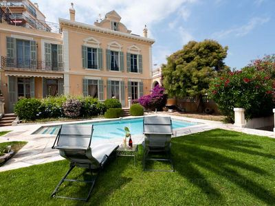 "Photo for Cannes Centre - Villa ""Marie Pierrette"" - Hotel Particulier nineteenth century - Swimming"