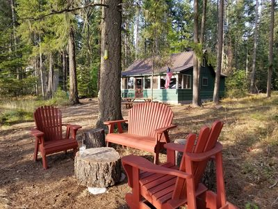 Photo for Rustic Priest Lake Waterfront Cabin conveniently located near Hunt Creek