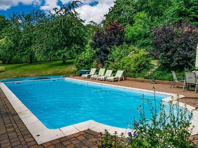 Photo for Delightful Holiday Home in Aubel Ardennes,Private Pool/Sauna