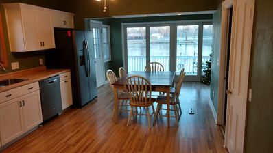 From the living room looking into the kitchen