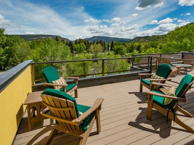 Photo for Stunning townhome by the river in downtown Durango - Roof Top Deck