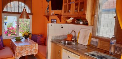 """Photo for Studio """"Orange"""" in a prime location, 30m to the beach, panoramic view"""
