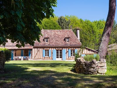 Photo for Le Domaine de Camille - Charming country house & pool in 40-acre private estate