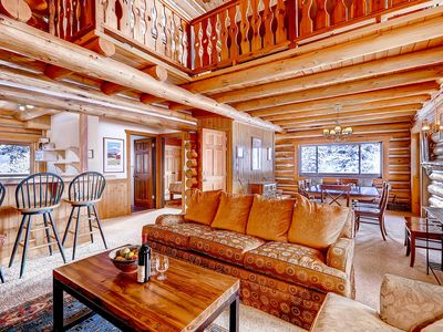 Photo for Gorgeous Log Cabin in Alta with Outdoor Hot Tub and Wood Burning Fireplace