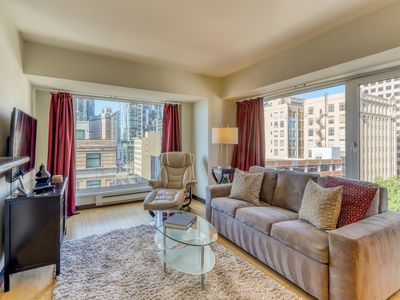 Photo for Bay view apartment w/shared hot tub and indoor pool - near Pike Place Mark
