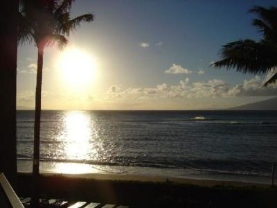 Actual Sunset View from the Lanai.