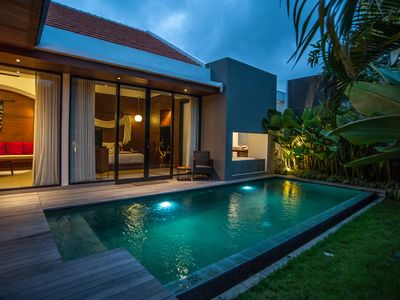 Photo for Romantic one bedroom private pool villa in the heart of Legian