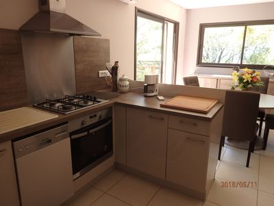 Photo for RENTAL APARTMENT AT THE VILLA 55 m2 SEA VIEW - 5 minutes from the beaches