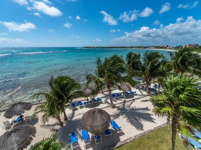 Photo for FREE AIRPORT TRANSFER ! Lavish Mayan Artistry on the Beach w/ Pool & Gardens