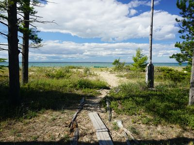Photo for Secluded Beach Front Log Cabin Next to Nature Preserve