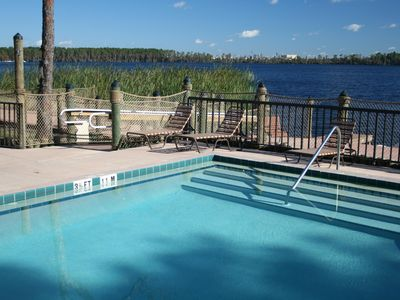 Photo for Lakeside Resort Condo Just 2 Miles From Disney w/ WiFi, Fireplace & More