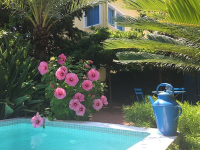Photo for Le Cédrat, 3*** flat in villa with garden and private pool