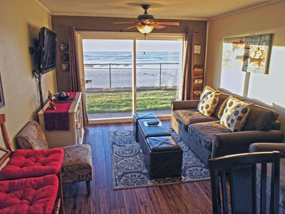 Photo for Get A Wave From It All with this beachfront condo just steps from the sand
