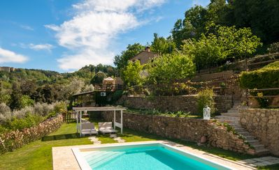 Photo for Country Home immersed in the woodland. Beautiful View, Pool and Jacuzzi
