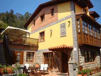 Photo for Asturian typical house, between the sea, golf and the mountains, in Andrin-Llanes