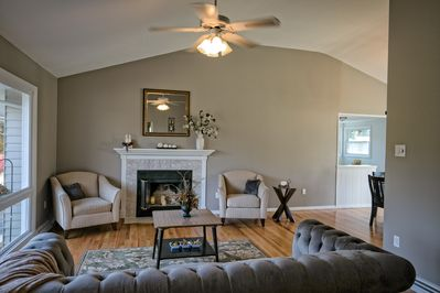 Open with vaulted ceiling living room awaits!