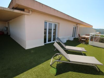 Photo for ROOF TOP, VERY NICE T2, 56M2, WiFi, Exceptional view on the last privative floor.