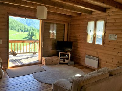 Photo for In a quiet chalet, apartment of 100 m2 for 6 people with terrace