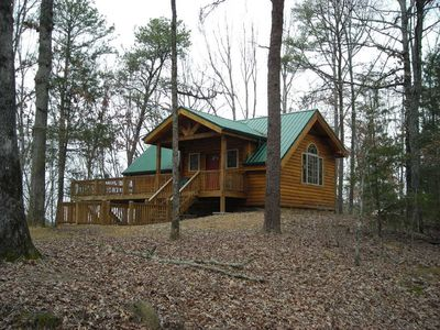 Photo for Hilltop Heaven 9 Acres Of Wooded Seclusion, Yet Close To Everything You Need.