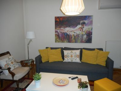 Photo for Center 2  apartment in Kolonaki with air conditioning, private parking, balcony & lift.