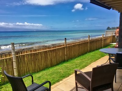 Photo for 2B/1Bth Lowest Priced Unit on the Ocean! Just 12 feet from the Ocean! West Maui