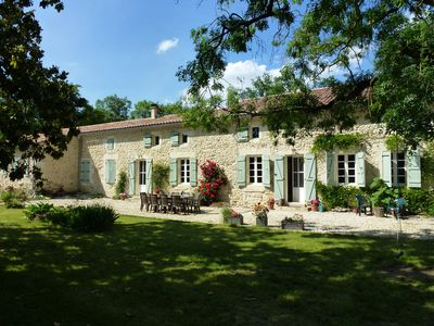 Photo for Beautiful Stone Farmhouse With Heated Pool And Views Across Rolling Countryside