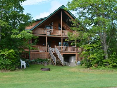 Photo for Luxurious Log Home on Northwood Hills Golf Course, Direct TV/WiF