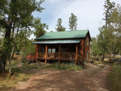Photo for Shangri Lodge-Pet Friendly Terry Peak Cabin with Hot Tub