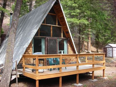 Photo for Secluded A-Frame cabin 30 min. from downtowm Missoula