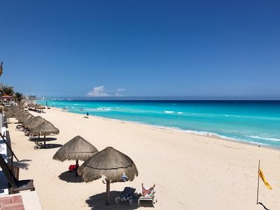 Photo for Beach Front Two Bedroom Penthouse - Ocean And Lagoon Views  - Cancun Hotel Zone